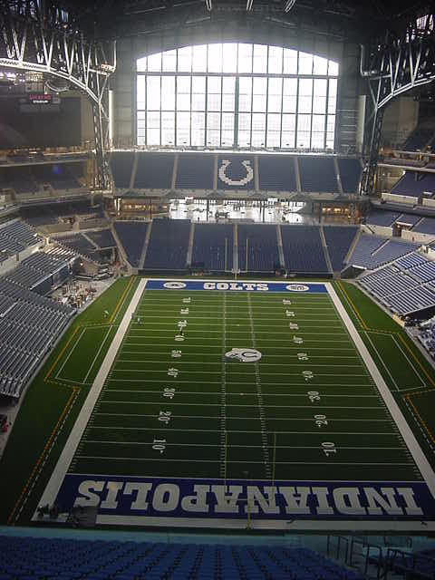Colts field from North Party deck