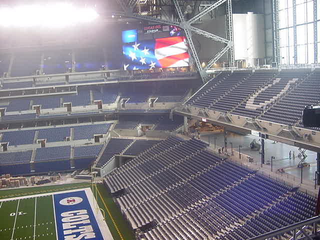 Colts field and corner scoreboard